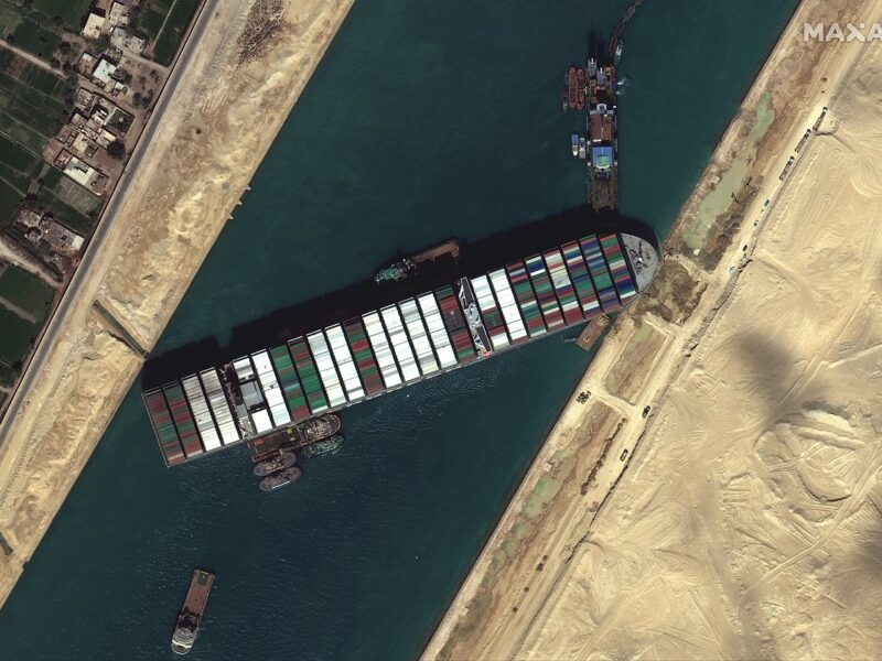 Suez Canal blocked by Ever Given March 27 2021