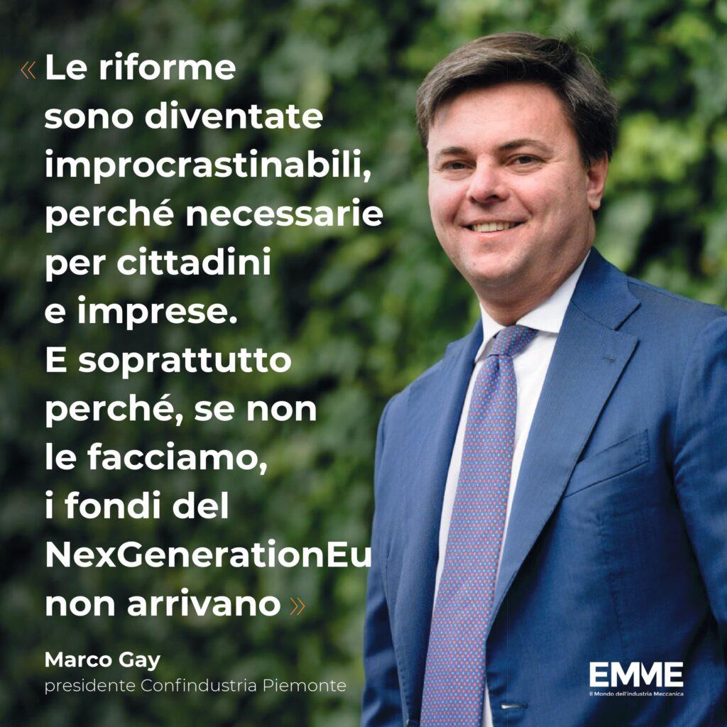 Marco Gay, presidente Confindustria Piemonte
