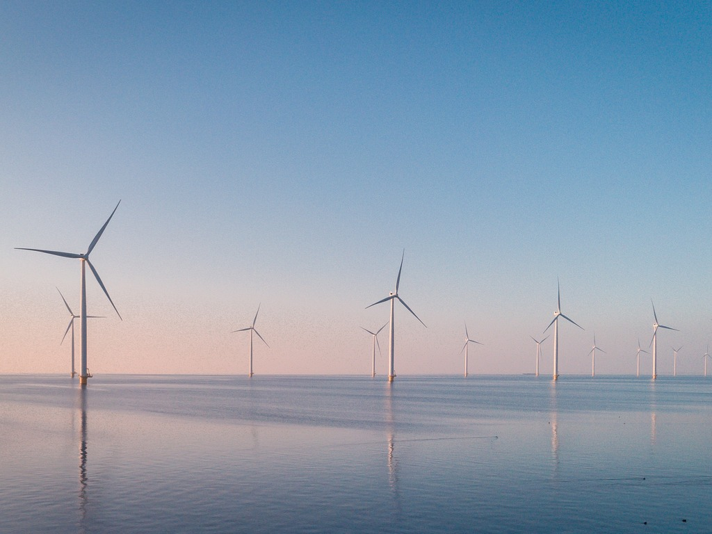 wind turbine from aerial view drone view at windpark westermeerdijk a picture id1215192797