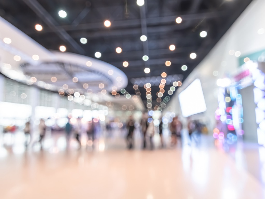 exhibition event hall blur background of trade show business world or picture id1133692578