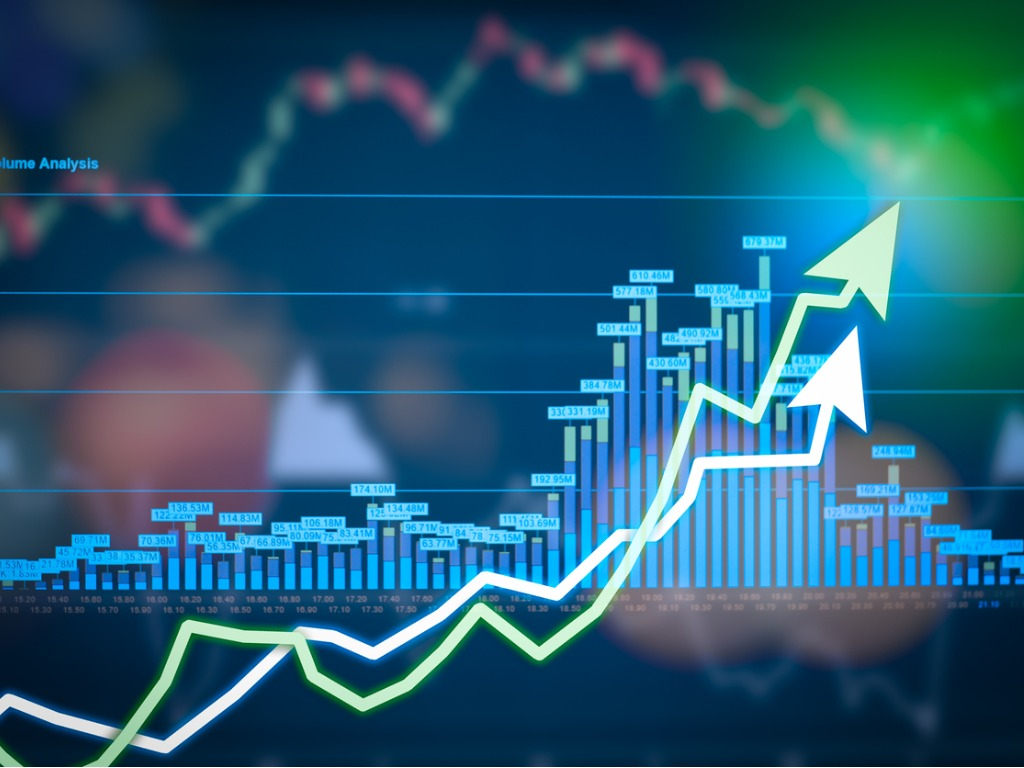 stock market digital graph chart on led display concept a large of picture id670960338 1